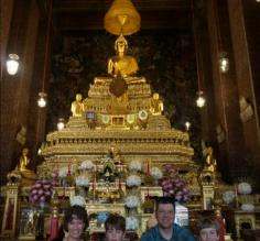 Our family at a Bangkok temple