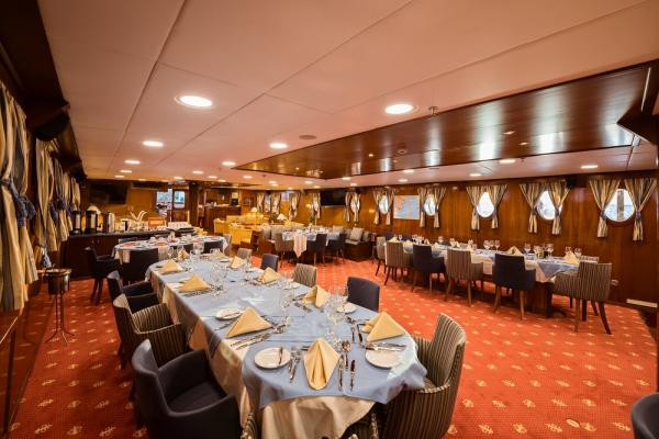 Dining room on the Galileo