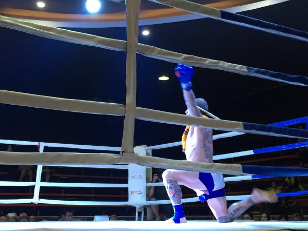 Performing the Wai Khru before the fight