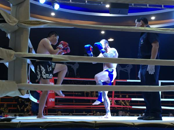 Muay Thai fight at Chiang Mai Boxing Stadium