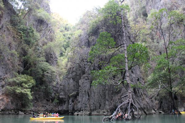 Kayaking in a lagoon in Phang Nga Bay
