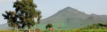 Ethiopia highlands and huts