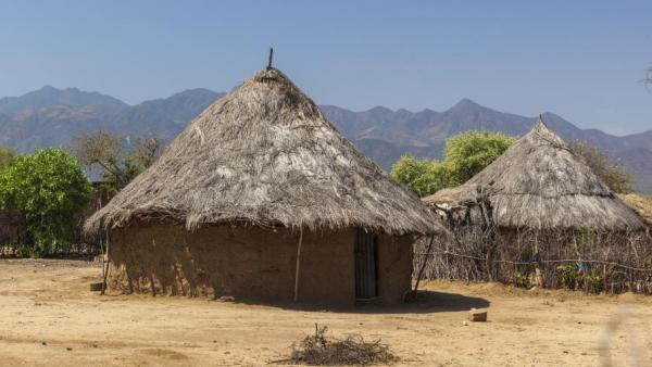Traditional homes in Omo Valley