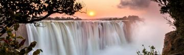 Sunrise over Victoria Falls