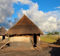Traditional huts in Zimbabwe