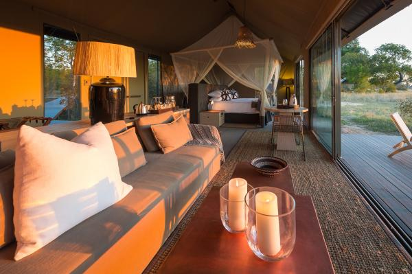 Tents offer great game viewing