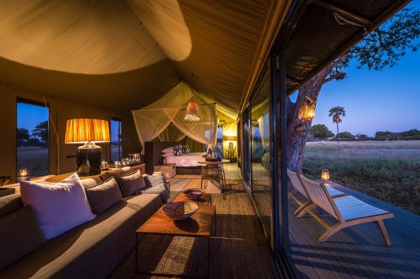 Each tent offers private decks
