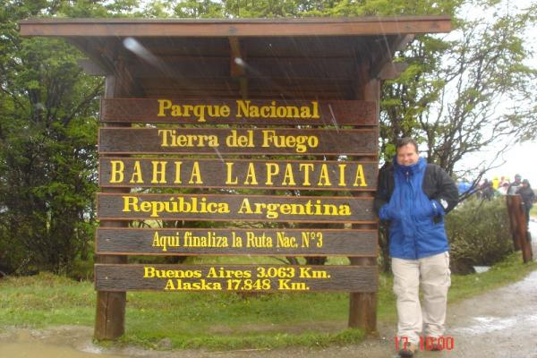 The sign at Tierra del Fuego