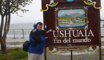 Exploring the city of Ushuaia before our cruise