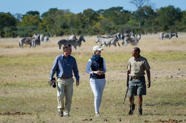Walking safaris on the Linkwasha Concession