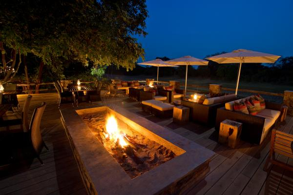 Enjoy a fireside sundowner at the end of the day