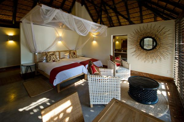 Guest chalet at Mfuwe Lodge