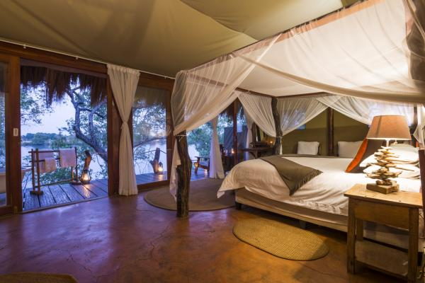 Tent option at Mukambi Safari Lodge