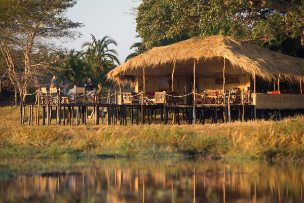 Mukambi Plains Camp deck opens to the plains
