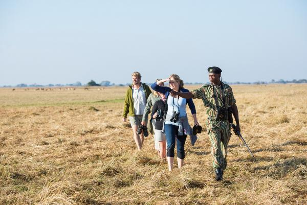 Walking safaris with a guide