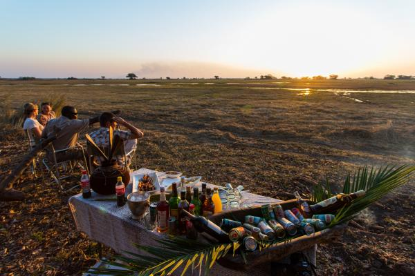 Picnic overlooking Busanga Plains