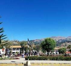 The Plaza de Armas in Huaraz