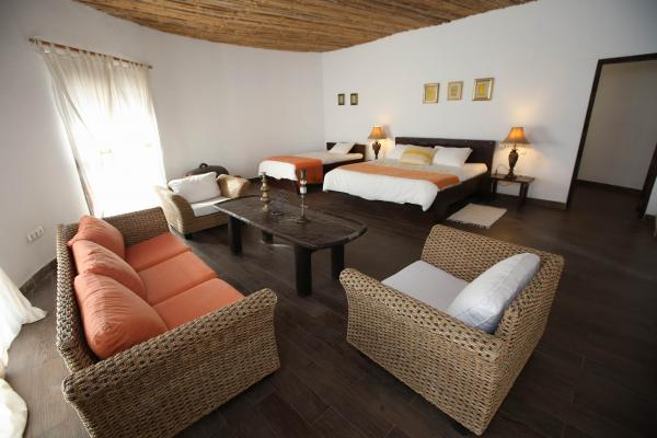 Suite rooms include a sitting area