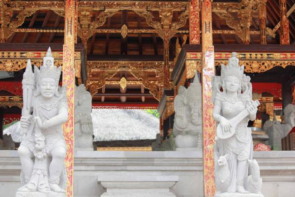 Traditional Balinese Statues and architecture