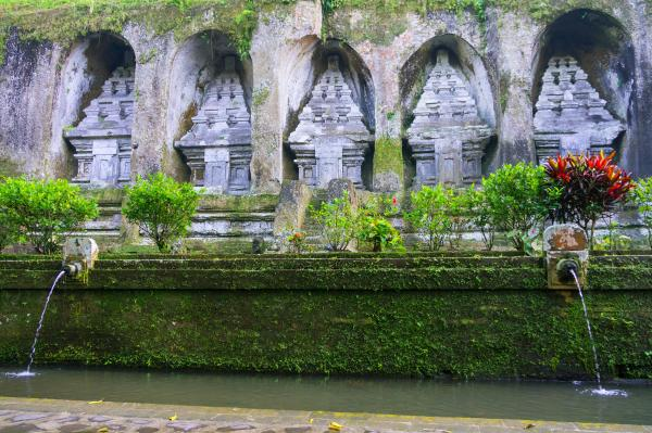 Caves in Gunung Kawi Temple in Ubud