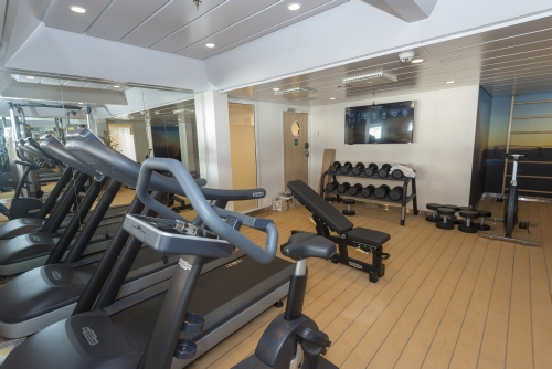 Fitness center on the MS Spitsbergen
