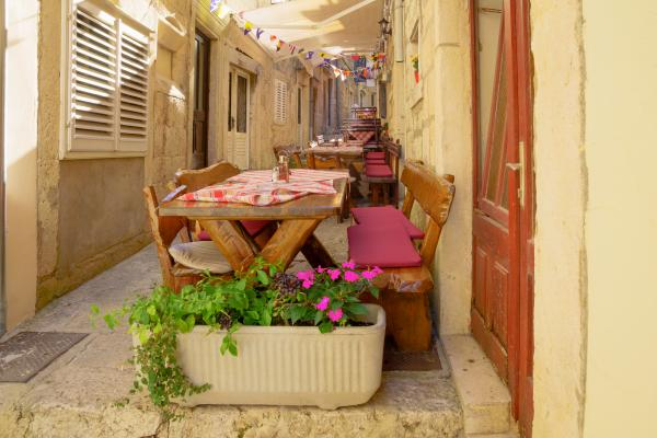 Quaint alley in Korcula