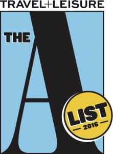 Travel+Leisure 2016 A-List logo