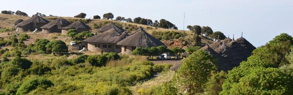 Tukul style huts at Simien Lodge