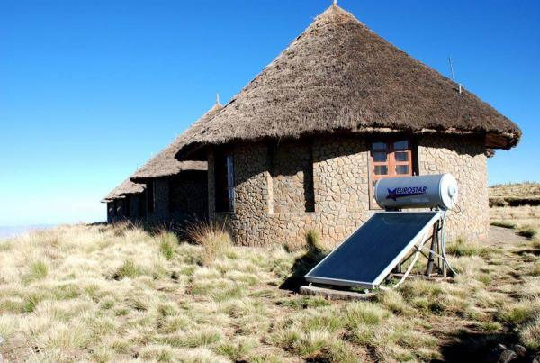 Solar panels at Simien Lodge