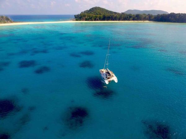 Cruise along the blue waters of the Andaman Islands