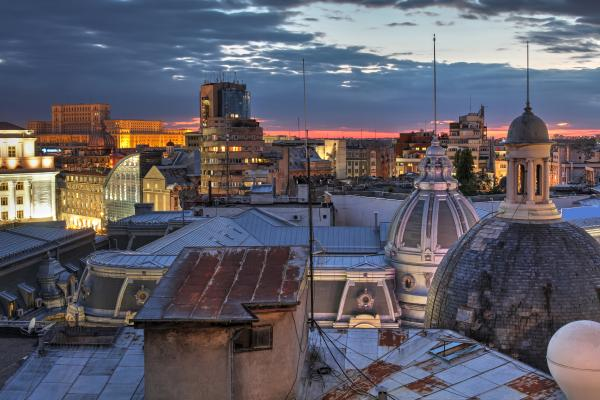 Bucharest skyline, Romania