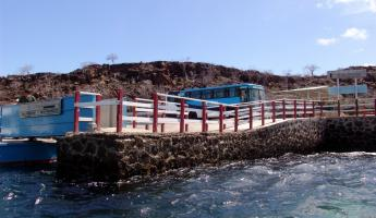 On the ferry in the Galapagos