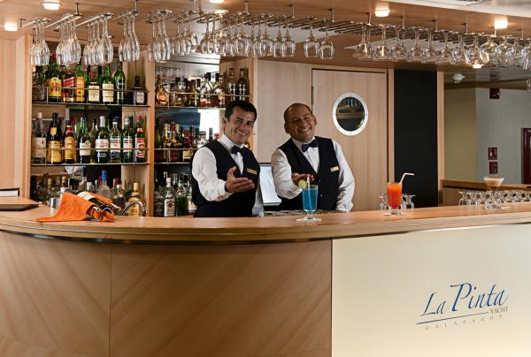 Hospitable and fun staff aboard La Pinta
