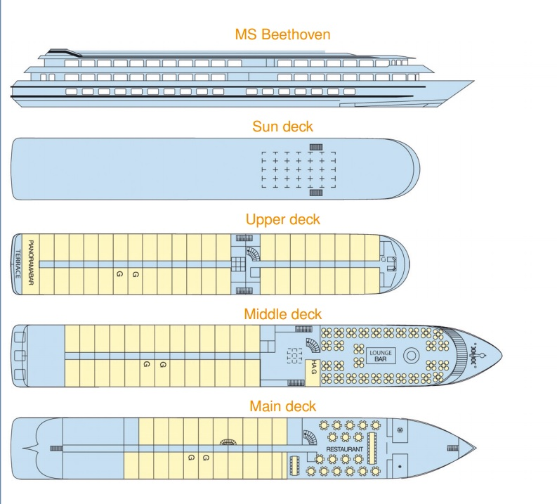 MS Beethoven's Deck Plan