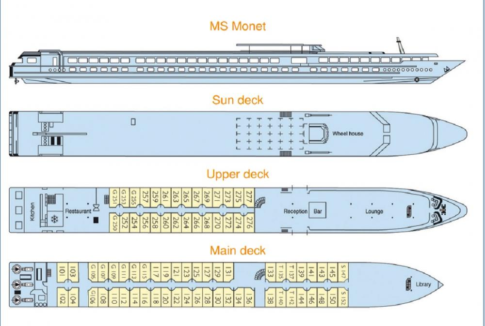 MS Monet's Deck Plan