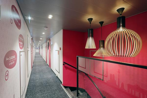 Corridor to the Upper Deck Cabins on the MS Elbe Princesse