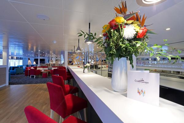 Lounge-bar on the MS Elbe Princesse