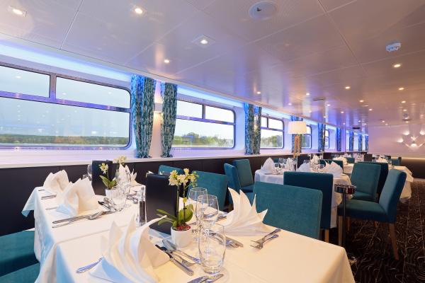 Restaurant on the MS Elbe Princesse