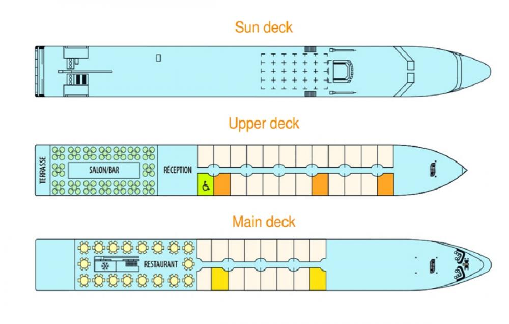 MS Elbe Princesse's Deck Plan
