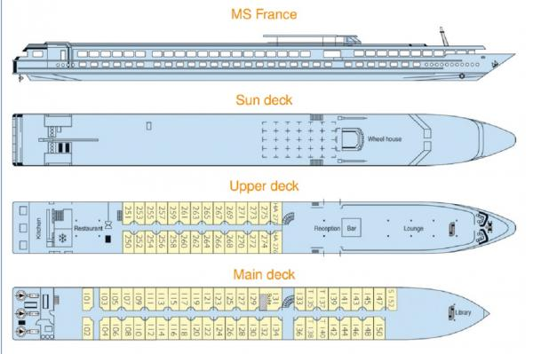MS France's Deck Plan
