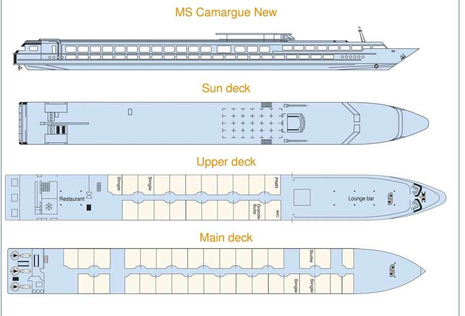 MS Camargue's Deck Plan