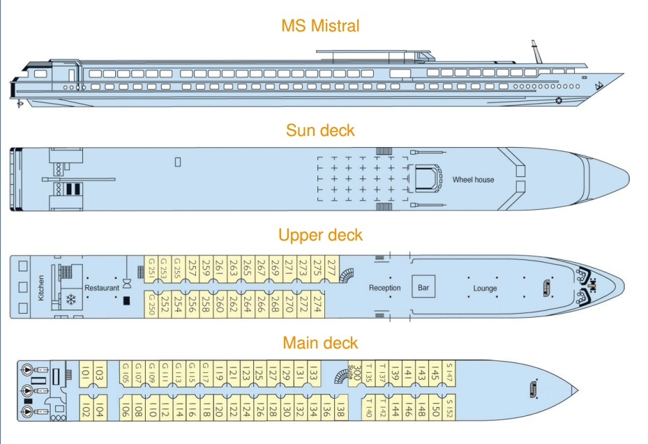 MS Mistral's Deck Plan