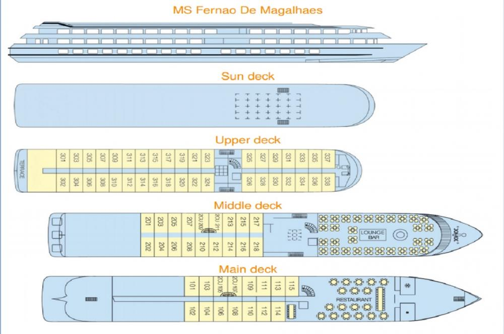 MS Fernao de Magalhaes' Deck Plan
