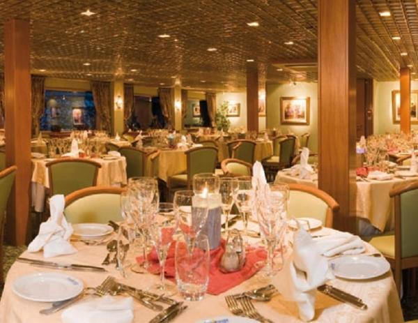 Restaurant on the MS Vasco de Gama