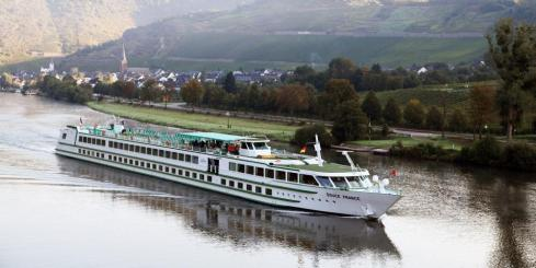 MS Douce France cruising on the Rhine River