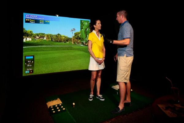 Enjoy some leisure time on the Golf Simulator