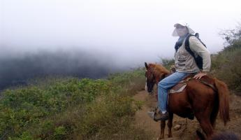 Our guide on horseback