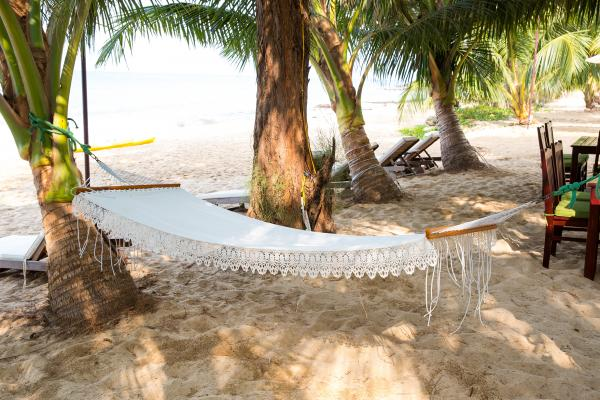 Hammock on the beach in Vietnam