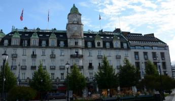 Our hotel in Oslo, properly named The Grand Hotel.