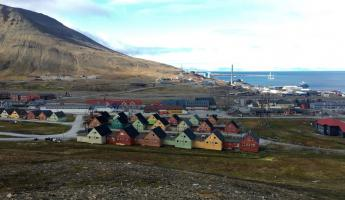 Colorful houses of Longyearbyen.